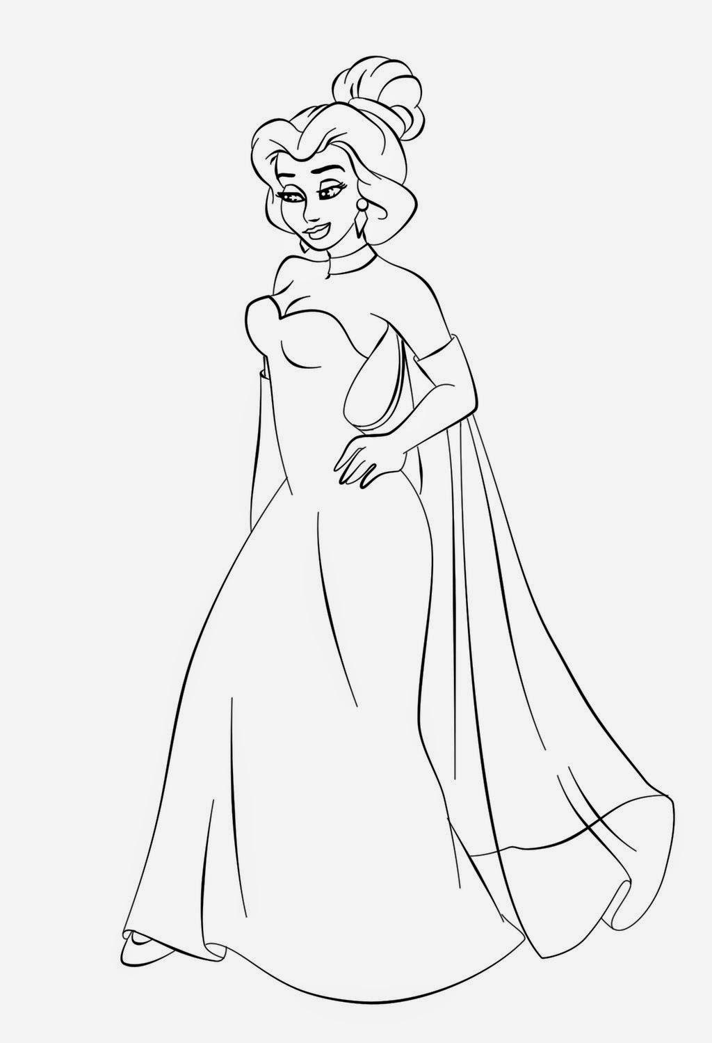 Schede Da Colorare Principesse Disegni Da Colorare Principesse