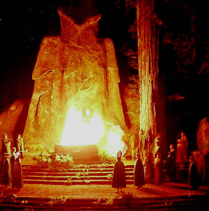 Bohemian Grove Owl Shrine