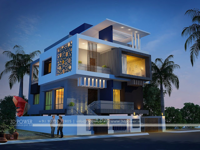 3D Rendering Bungalow Realistic