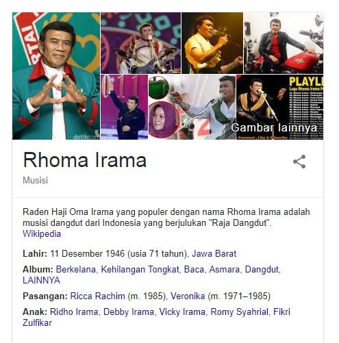 19 Fakta Menarik Tentang Rhoma Irama Seorang Raja Dangdut Indonesia