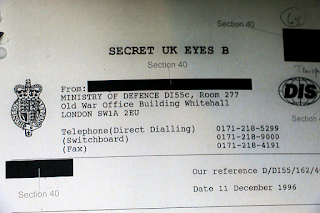 The Condign project – classified Secret – UK Eyes Only (Dr David Clarke)