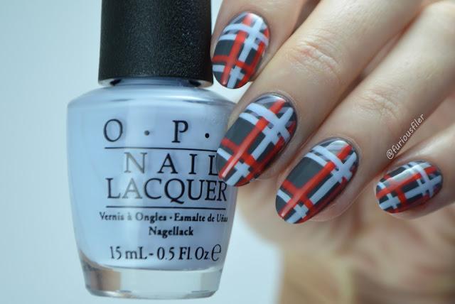 Nail art tutorial fashion Victoria Beckham aw16 stripes