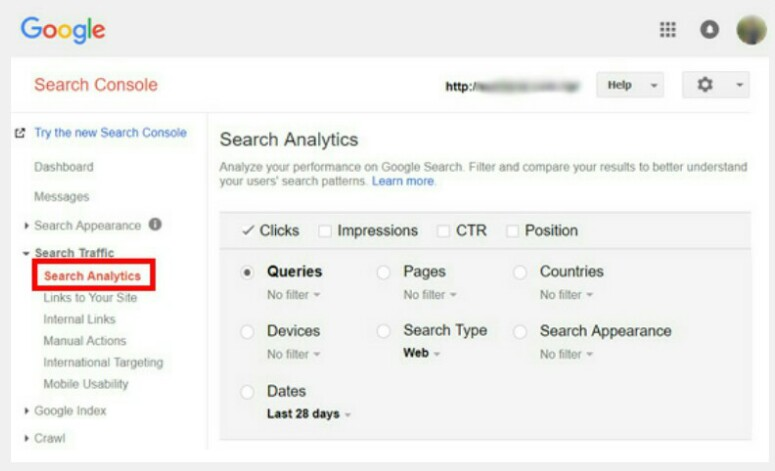 Analisis Search Console