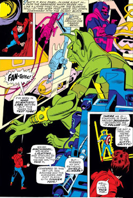 Captain Marvel #17, Rick Jones and an alien cave