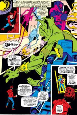 Captain Marvel #17, Rick Jones and an alien cave