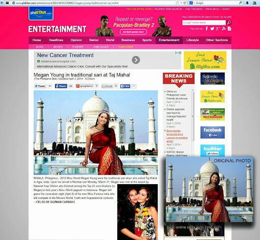 "Did Philstar Use ""Photoshopped"" Image of Miss World 2013 Megan Young? - Trend Scooper"