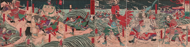 Yoshitoshi, Battle of Dan-no-Ura Hexaptych