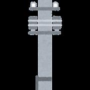 電柱のイラスト(1本)