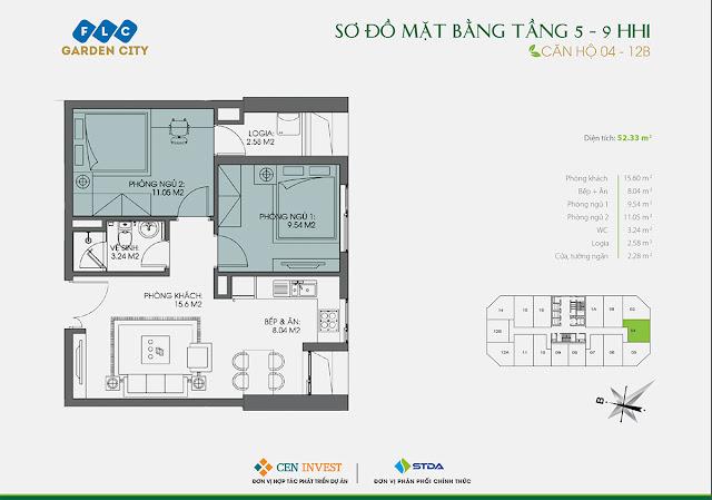Thiết kế căn hộ 04 & 12B