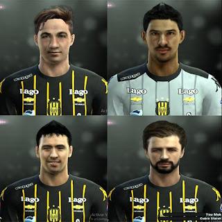 Faces: Jonathan Blanco, Nereo Champagne, Francisco Pizzini, Juan Ignacio Sills, Pes 2013