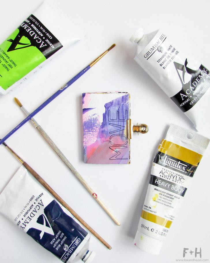 Tiny Art Journal 39 // Fox + Hazel
