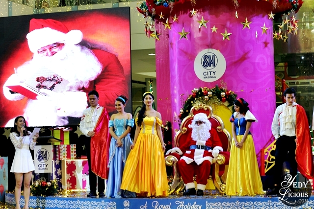 Disney Princesses and Santa Clause