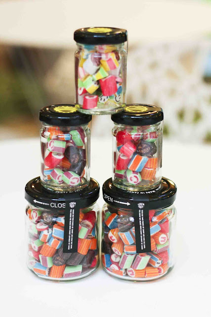 Halloween Candies in Jars