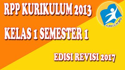 RPP Kurikulum 2013 kelas 1 untuk semester 1