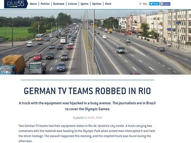 Welcome to Hell Gringos - TV alemã que está no Rio para cobrir Olimpíada tem contêineres roubados