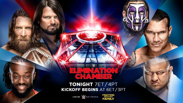 2019 WWE Elimination Chamber Banner, Poster, Image