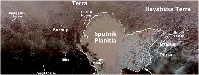 nomes oficias de Plutão revelados pela UAI