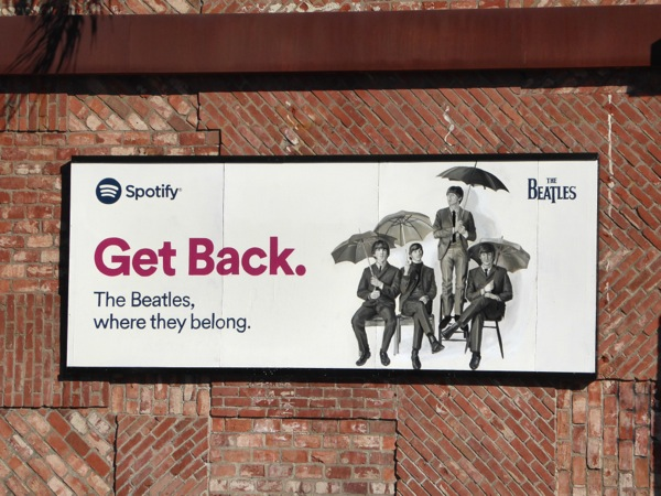 The Beatles Get back Spotify billboard