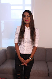 Nia Sharma at an itnerview for For Web Series Twisted 02.JPG