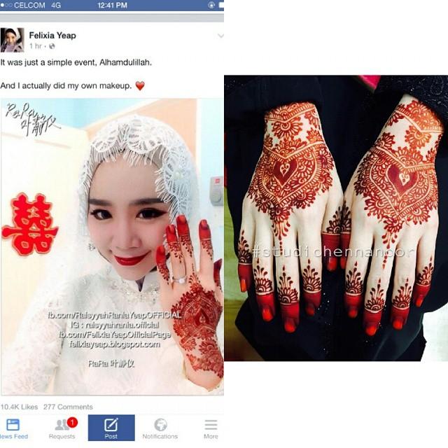 Perkhidmatan Ukiran Inai Pengantin Henna Artis For Celebrity Di