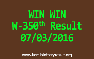 WIN WIN W 350 Lottery Result 07-03-2016