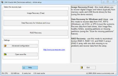 Screenshot Zero Assumption Recovery X Build 1023 Technician Edition Full Version