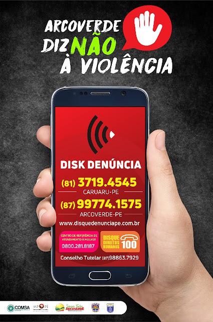 Não à violência: Disque Denúncia começa a funcionar em Arcoverde