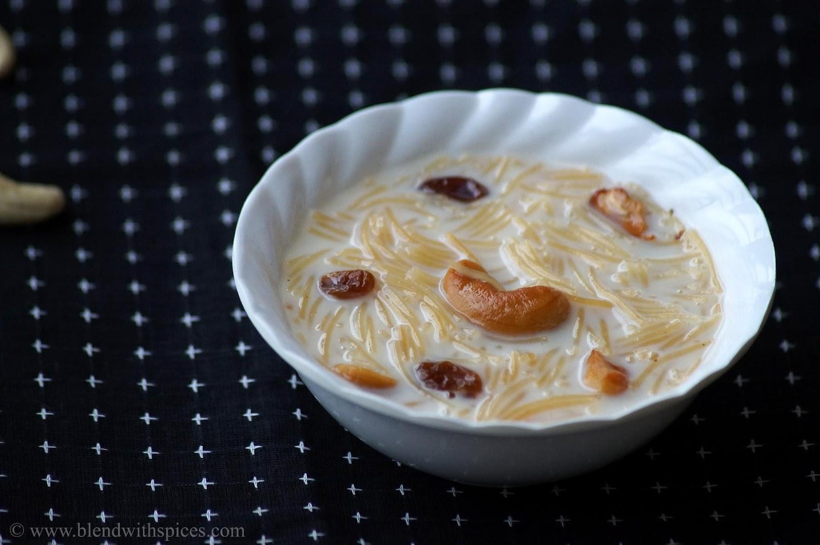 Vermicelli kheer (semiya/seviyan payasam) | The Veggie Indian