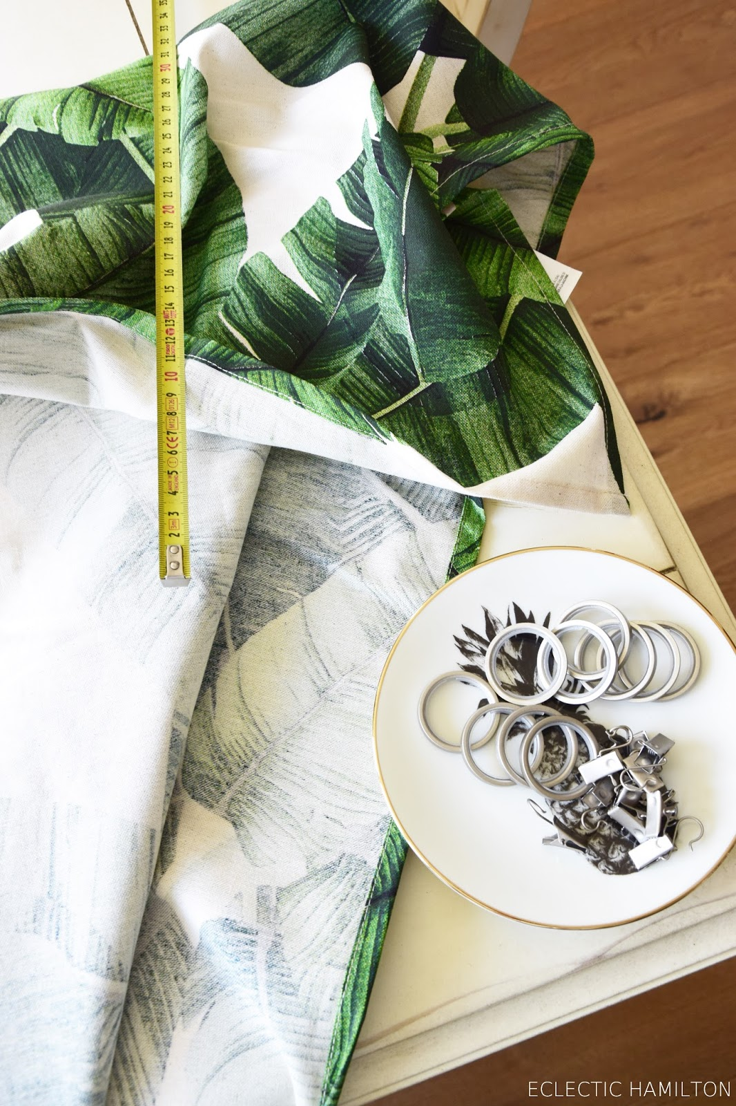 diy vorhang aus einer tischdecke einfach selber machen ohne nähen dschungel sommer deko