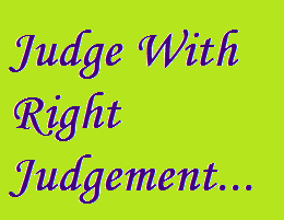 Judge well