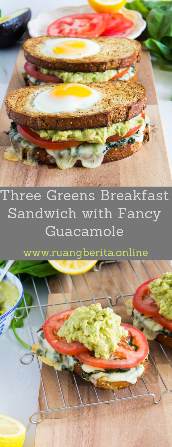 Three Greens Breakfast Sandwich with Fancy Guacamole