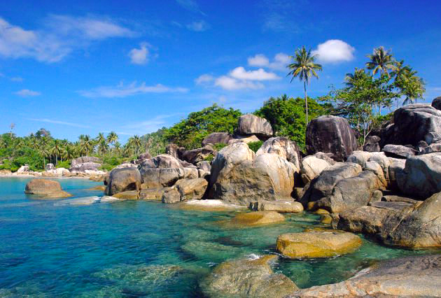 Gambar Pantai Tanjung Tinggi Di Bangka Belitung