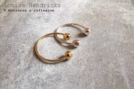 Bijoux Louise Hendricks bague de phalange plaquée argent