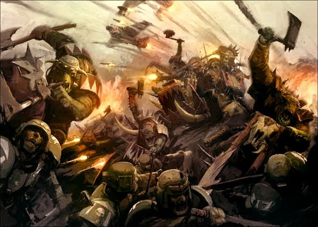 Ork Painmob: Orks Start Collecting Formation