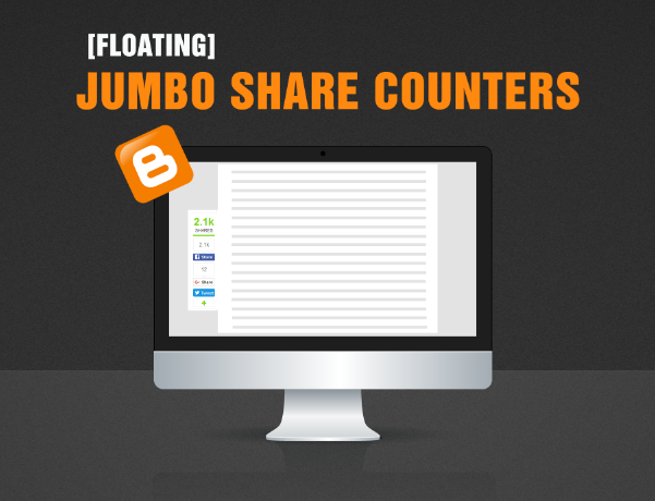 Sleek Floating And Horizontal Share Buttons