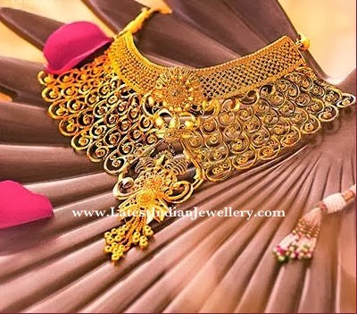 Contemporary Bridal Gold Choker