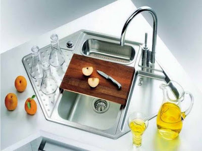 Amazing Multi-functional Corner kitchen sinks design