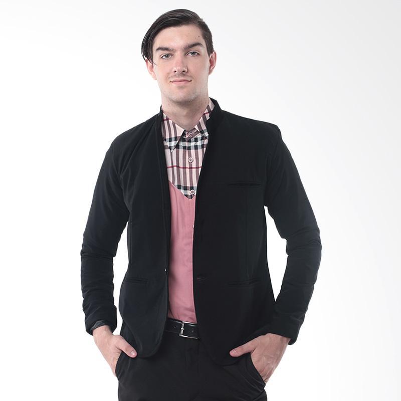 Alphawear Casual Blazer Jas Pria - Black