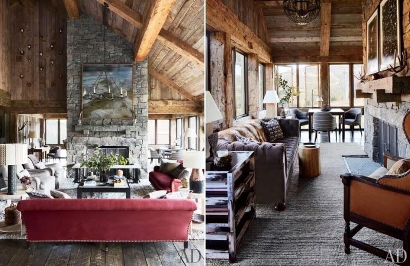 Drewniana rezydencja z kamiennym kominkiem, wystrój wnętrz, wnętrza, urządzanie domu, dekoracje wnętrz, aranżacja wnętrz, inspiracje wnętrz,interior design , dom i wnętrze, aranżacja mieszkania, modne wnętrza, styl rustykalny, styl klasyczny, drewniany dom, salon, kominek