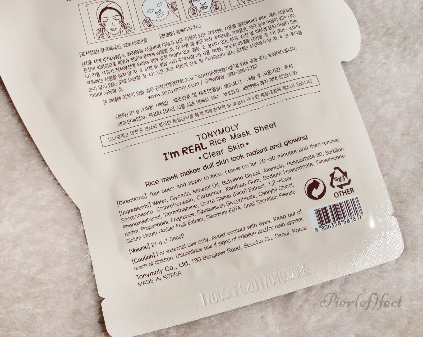 Opinioni INCI maschere in tessuto Tony Moly