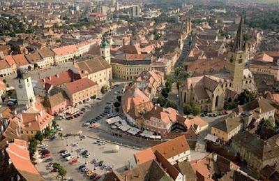 Sibiu - Centru Vechi - Vedere Aeriana