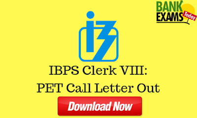 IBPS Clerk VIII: Pre-Examination Training Call Letter Out