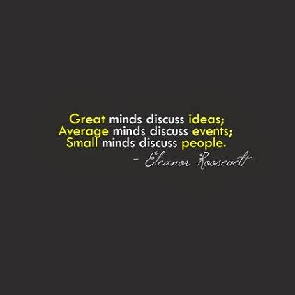 discussing people quote
