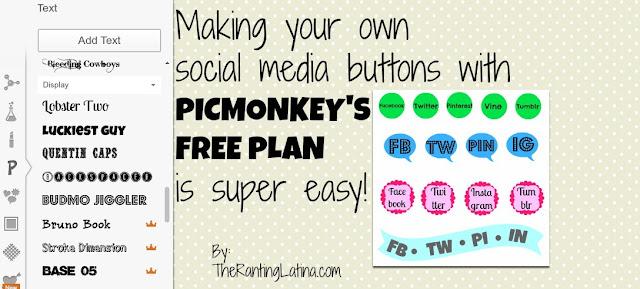 PicMonkey Social Media Buttons Post