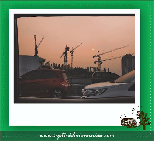 Potret senja di Jakarta