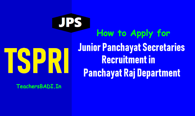 how to apply for jr panchayat secretary posts 2018 recruitment,how to fill telangana panchayat secretary 2018 online application,how to upload ts panchayat secretary posts 2018,apply online at tspri website tspri.cgg.gov.in