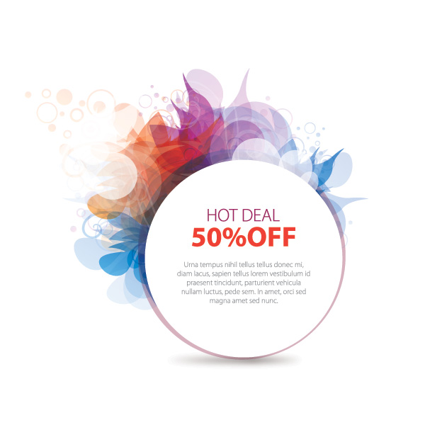 hot deal 50% off free vector