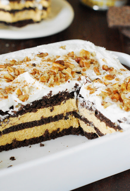 No-BakEasy No-Bake Chocolate-Pumpkin Icebox Cake photo