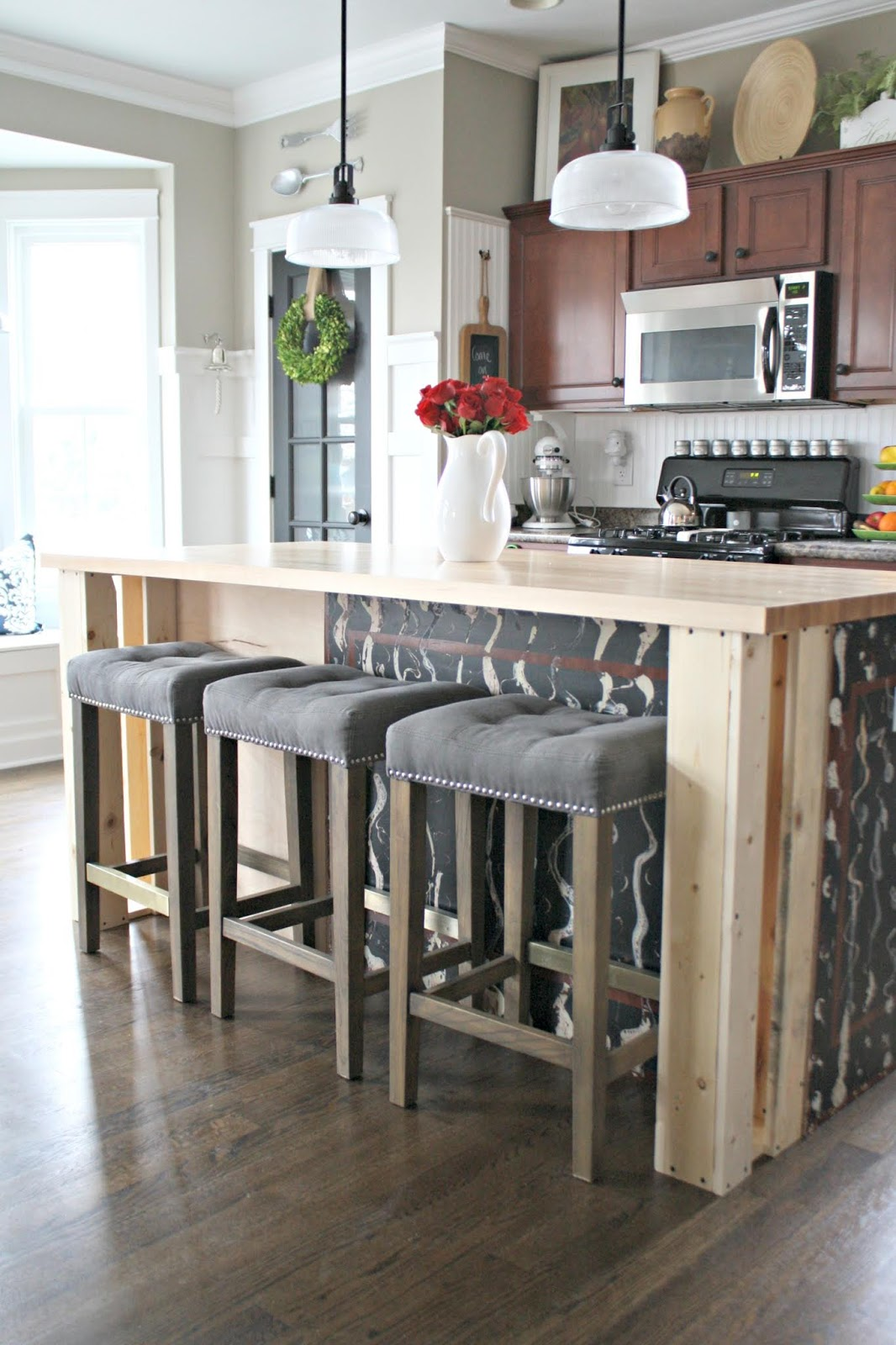 How to build out sides of kitchen island