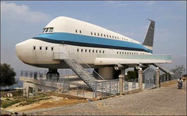 casa feita num aviao
